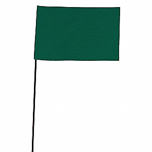 Marking Flag,Green,Blank,Vinyl,PK100
