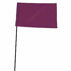MARKING FLAG,PURPLE,BLANK,VINYL,PK1