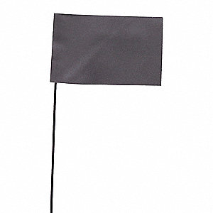 "Silver Marking Flag, 2.5"" Flag Height, Solid Pattern, Blank"