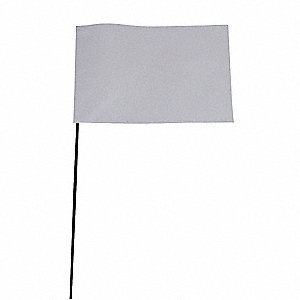 MARKING FLAG,WHITE,BLANK,VINYL,PK10