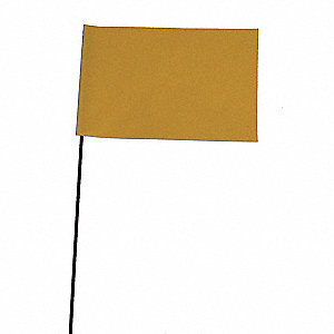 "Yellow Marking Flag, 2.5"" Flag Height, Solid Pattern, Blank"