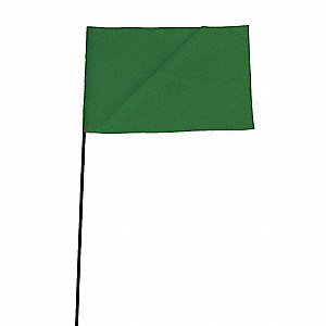 "Fluorescent Green Marking Flag, 2.5"" Flag Height, Solid Pattern, Blank"