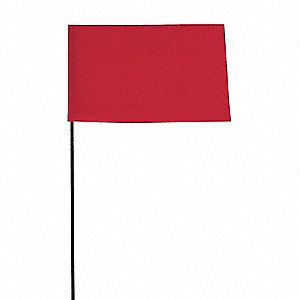 MARKING FLAG,FLUOR RED,BLANK,VINYL,