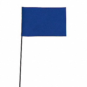 "Blue Marking Flag, 2-1/2"" Flag Height, Solid Pattern, Blank"
