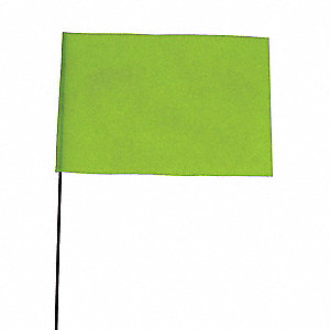 Marking Flag,Fluor Lime,Vinyl,PK100