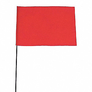 Marking Flag,Fluor Orange,Vinyl,PK100