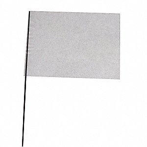 "Clear Marking Flag, 4"" Flag Height, Solid Pattern, Blank"