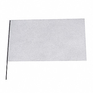 "Clear Marking Flag, 5"" Flag Height, Solid Pattern, Blank"