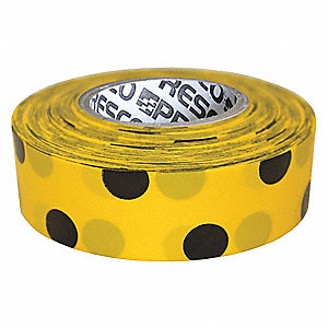 Flagging Tape,Yllw/Blk,300 ft x 1-3/8 In