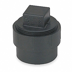 FITTING CLEANOUT ADAPTER WITH PLUG,