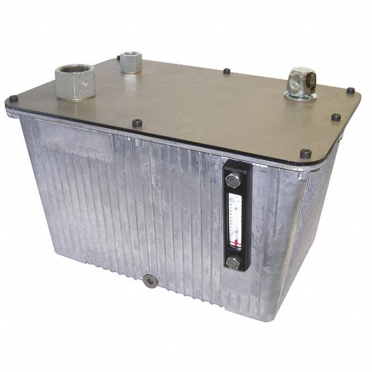Vertical Hydraulic Reservoir,  Cast Aluminum,  4.5 gal Nominal Capacity,  11.46 in Overall Width
