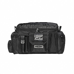 Tactical Duty Bag,Blk,Nylon,9x24x12 In