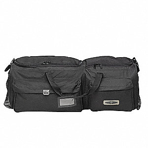 Tactical Gear Bag,Blk,Nylon,10x34x12 In