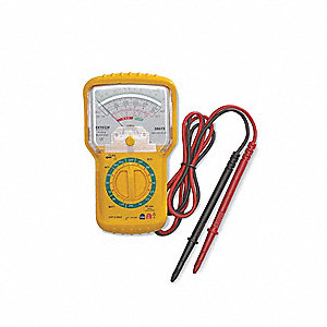 Analog Multimeter,300V,250mA,1M Ohms