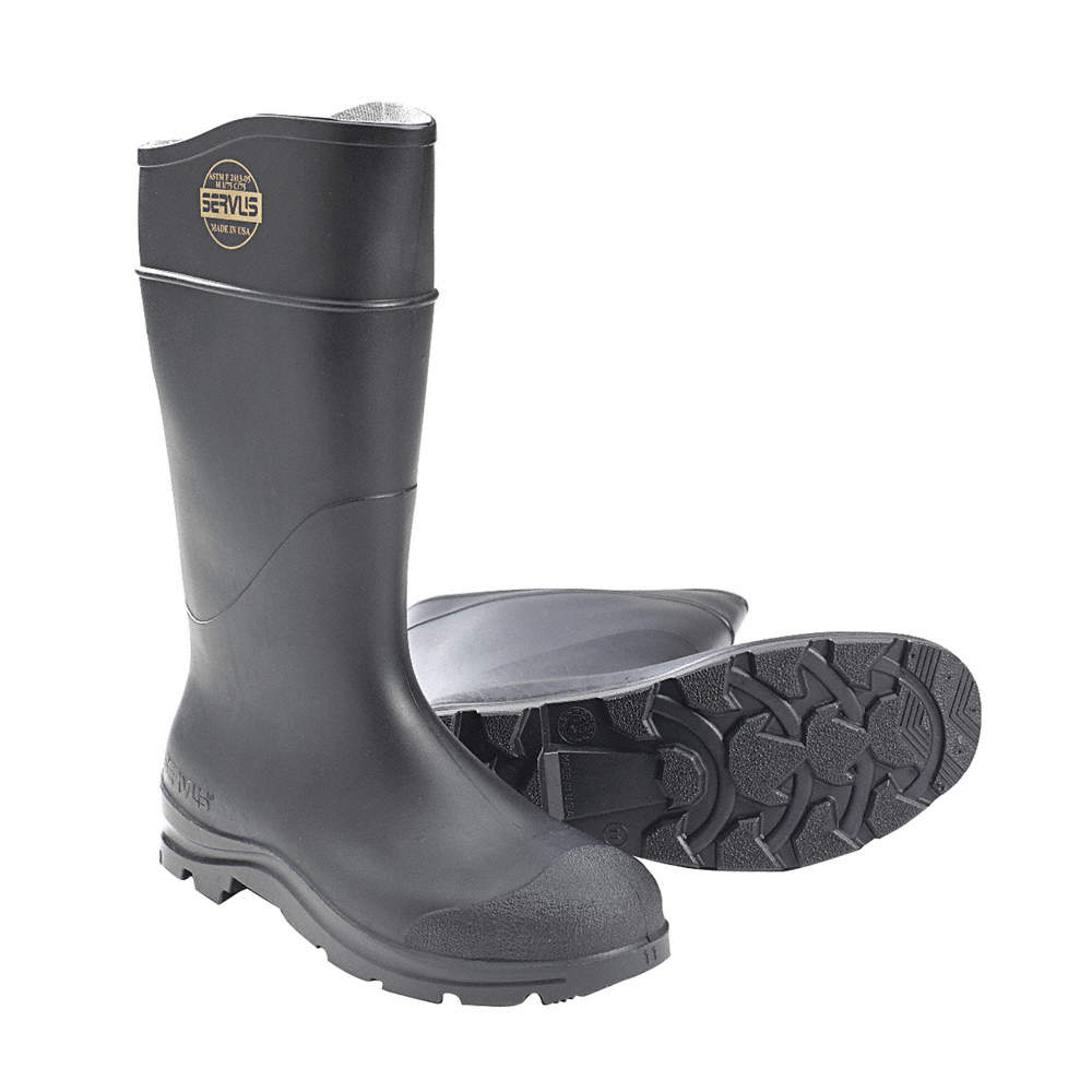Size 11 Boots PR Pull on Black