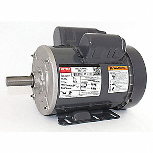 1-1/2 HP General Purpose Motor,Capacitor-Start/Run,3450 Nameplate RPM,Voltage 115/208-230,Frame 143T