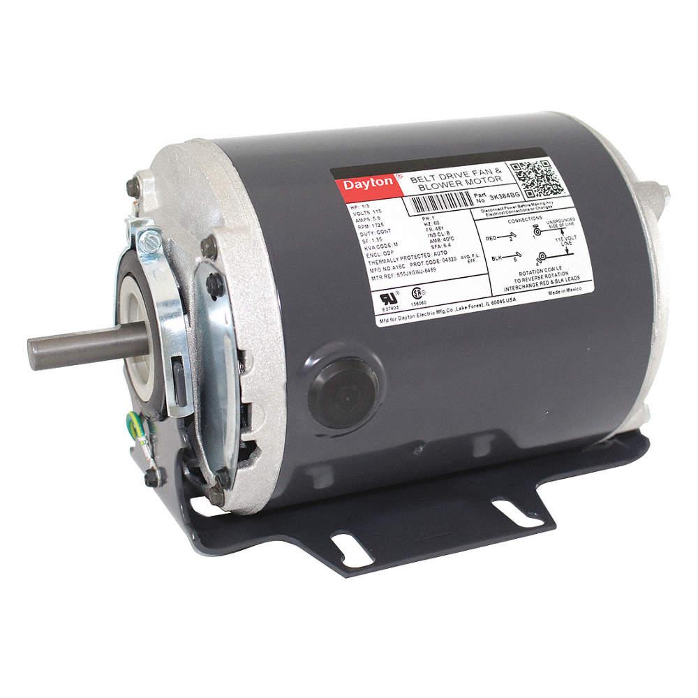 Motor,1//3 HP,1725 RPM,115//208-230 V 4K252
