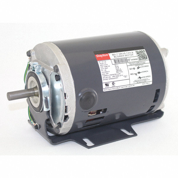Dayton 1 3 1 9 hp belt drive motor split phase 1725 for 1 3 hp motor