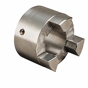 "SS100 Size 1"" Stainless Steel Jaw Coupling Hub, Keyway Size: 1/4"" x 1/8"""