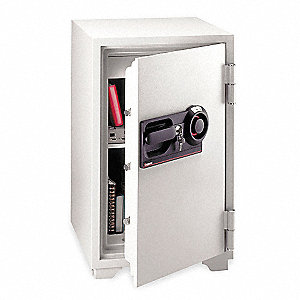 Commercial Fire Safe,3 cu ft,Light Gray