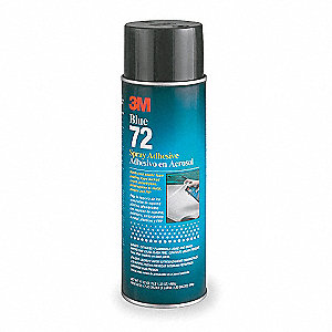 24 oz. Pressure Sensitive Spray Adhesive with Temp. Range (F) of 0° to 120°