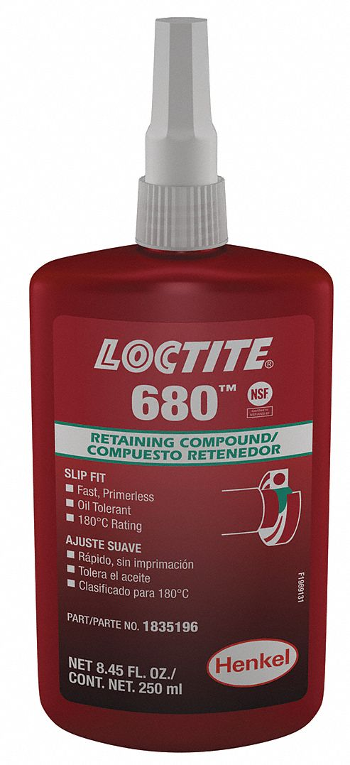 Loctite Retaining Compound 8 45 Oz Bottle 4000 Shear Strength Psi 65 To 355 F 3ke51 1835196 Grainger