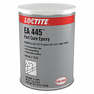 Epoxy Adhesive, 1.00 oz. Packet, Gray, Work Life: 5 min.