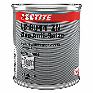 Metal-Free Anti-Seize Compound, -20°F to 750°F, 16 oz., Gray