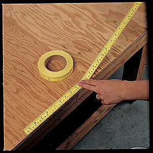 "500"" Mylar/Polyester Adhesive Backed Tape Measure, Yellow"