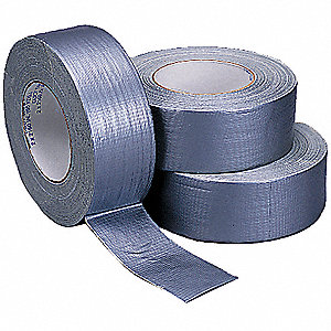 "Utility Duct Tape, 2"" X 60 yd., 7.00 mil Thick, Gray Cloth, 1 EA"