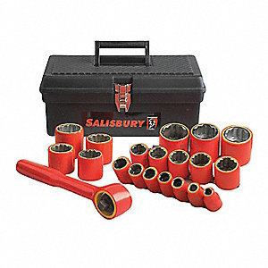 "Insulated Socket Set, Number of Pieces: 16, 3/8"" Drive Size"