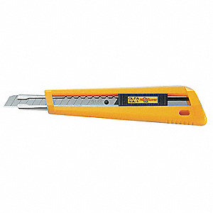 "9mm Snap-Off Utility Knife,5-1/2"" Overall Length,Number of Blades Included: 1"