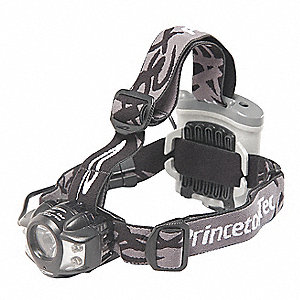 LED Headlamp, Plastic, 10,000 hr. Lamp Life, Maximum Lumens Output: 275, Black