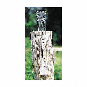 RAIN GAUGE,11-7/8X2 IN DIA,CLEAR-VU