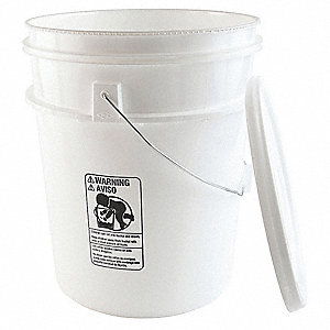Chemical Resistant Pail Tapered,5 gal.