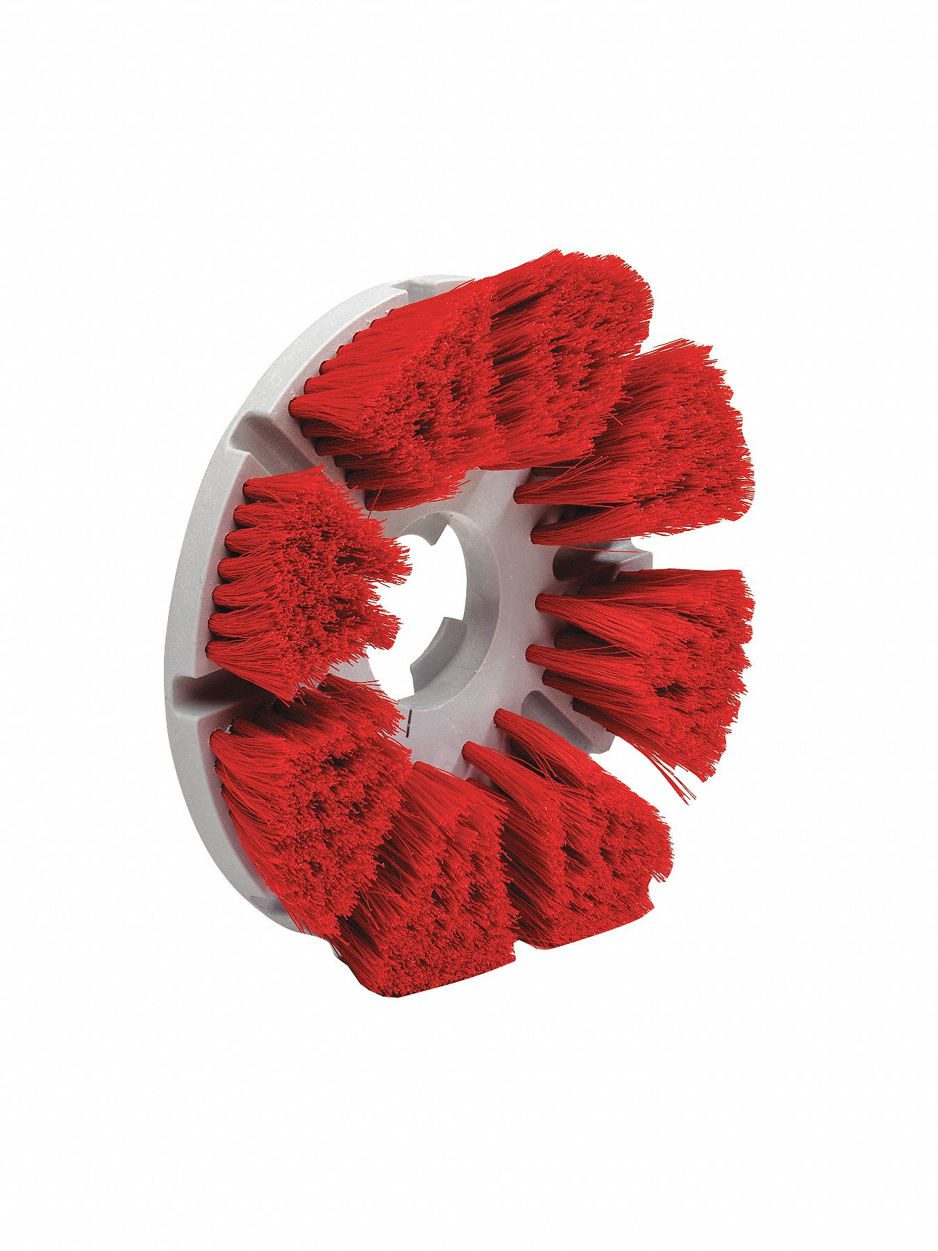 15 in Round Cleaning, Scrubbing Rotary Brush for 15 in Machine Size, Red