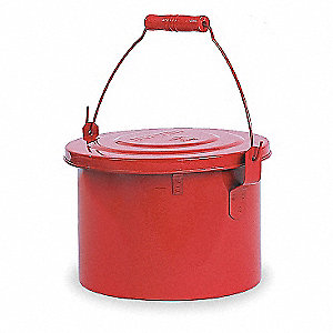 "Galvanized Steel Bench Can, 1 gal. Capacity, 7"" Dasher Plate Dia."
