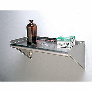 "60"" x 11-5/8"" x 11-5/8"" Stainless Steel Wall Shelf, Silver"