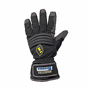 Cold Protection Gloves, Unlined Lining, Gauntlet Cuff, Black, 2XL, PR 1