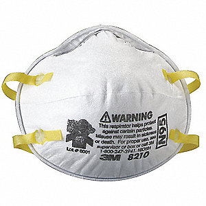 N95 Disposable Particulate Respirator, White, Universal, 20PK