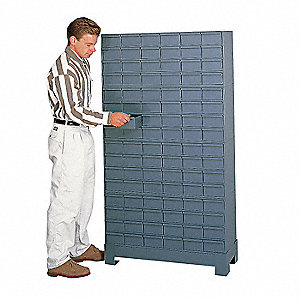 "Drawer Bin Cabinet, 48-1/8"" Overall Height, 34-1/8"" Overall Width, Number of Drawers or Bins 72"