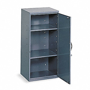 "Storage Cabinet, Gray, 30"" Overall Height, Assembled"