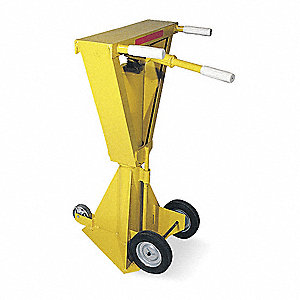 Trailer Stabilizing Jack, 80,000 lb. Static Load Capacity, Ratchet Height Adjustment Method