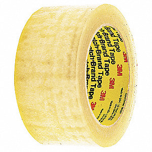 Polypropylene Packaging Tape, Hot Melt Resin Adhesive, 2.50 mil Thick, 48mm X 411m