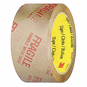 Polypropylene Packaging Tape with Text, Hot Melt Resin Adhesive, 2.50 mil Thick, 48mm X 50m