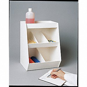 Lab Storage Bin,Benchtop,22x24x9.2In