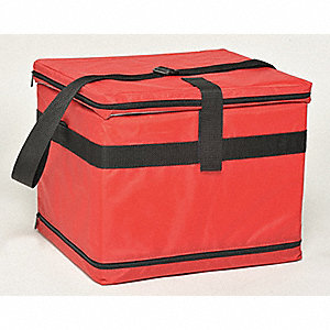 Medical Transfer Tote, 0.59 cu. ft., Red Nylon