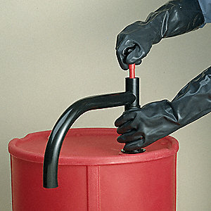 HDPE Hand Operated Drum Pump, Piston, Ounces per Stroke: 20 oz.