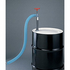 PVC Hand Operated Drum Pump, Piston, Ounces per Stroke: 28 oz.