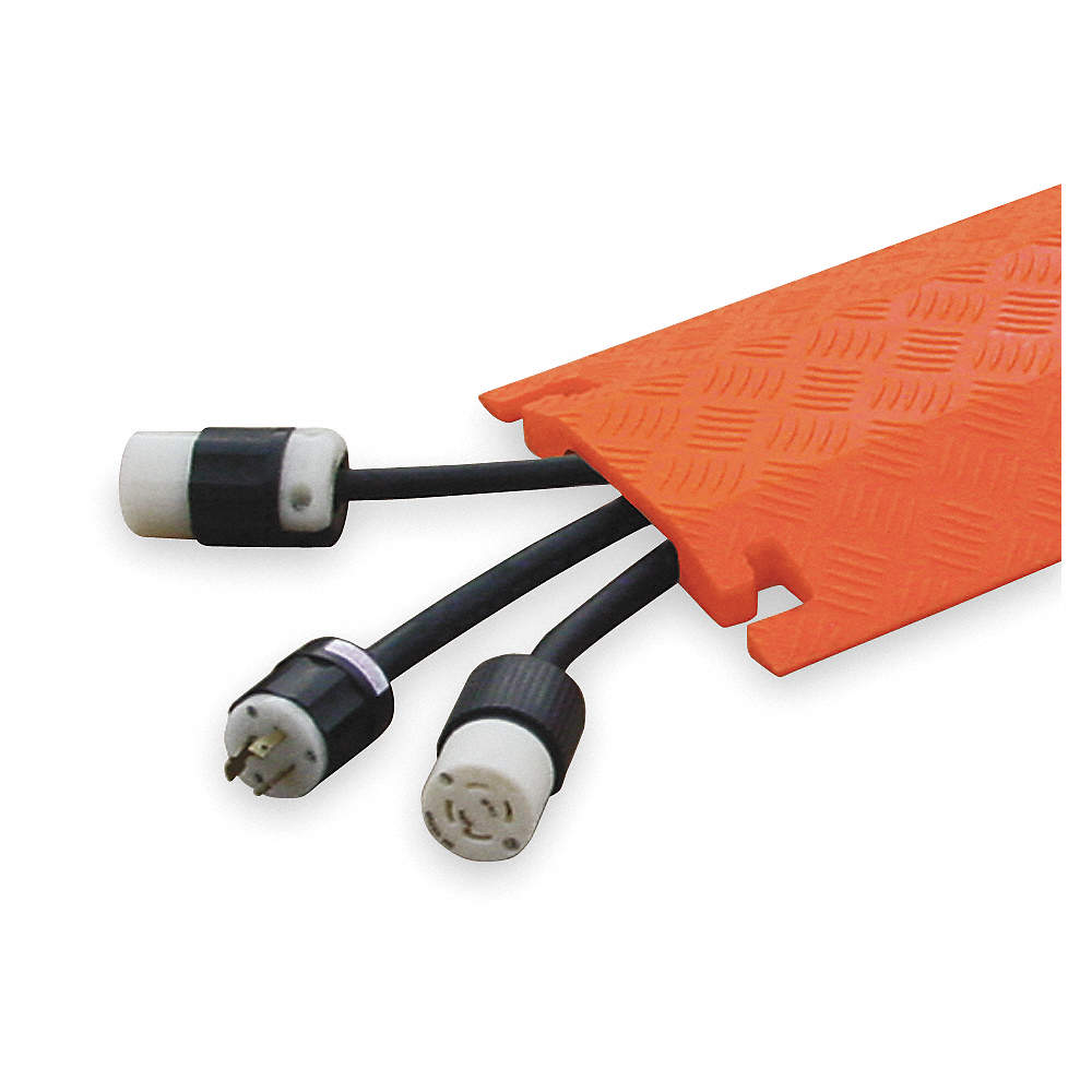 FASTLANE Drop Over 1-Channel Cable Protector, Orange, 36\